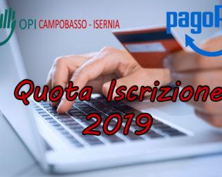 Quota Iscrizione 2019 PAGOPA